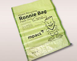 Ronnie bag on kerb [photo]