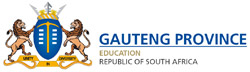 Gauteng Department of Education< [logo]